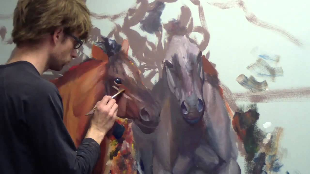 Still Painting Horses Mural Joe Youtube