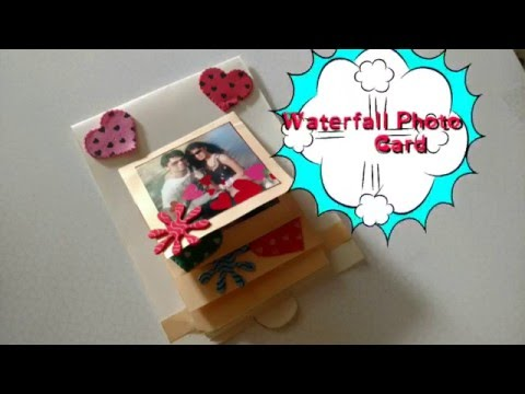 DIY Waterfall Photo Card Making Easy Tutorial | CraftLas