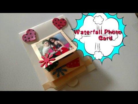 DIY Waterfall Photo Card Making Easy...