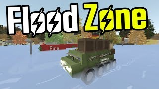 Exploring a FLOODED TOWN in an APC! - Unturned Germany Map - Ep. 17
