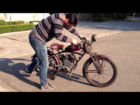 Whizzer 138cc beltdrive from 1950 in first paint.  Test ride bike 55
