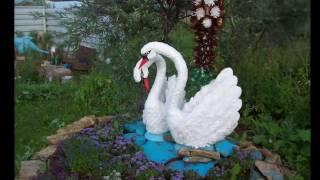 Лебедь — поделка из пластиковых бутылок своими руками