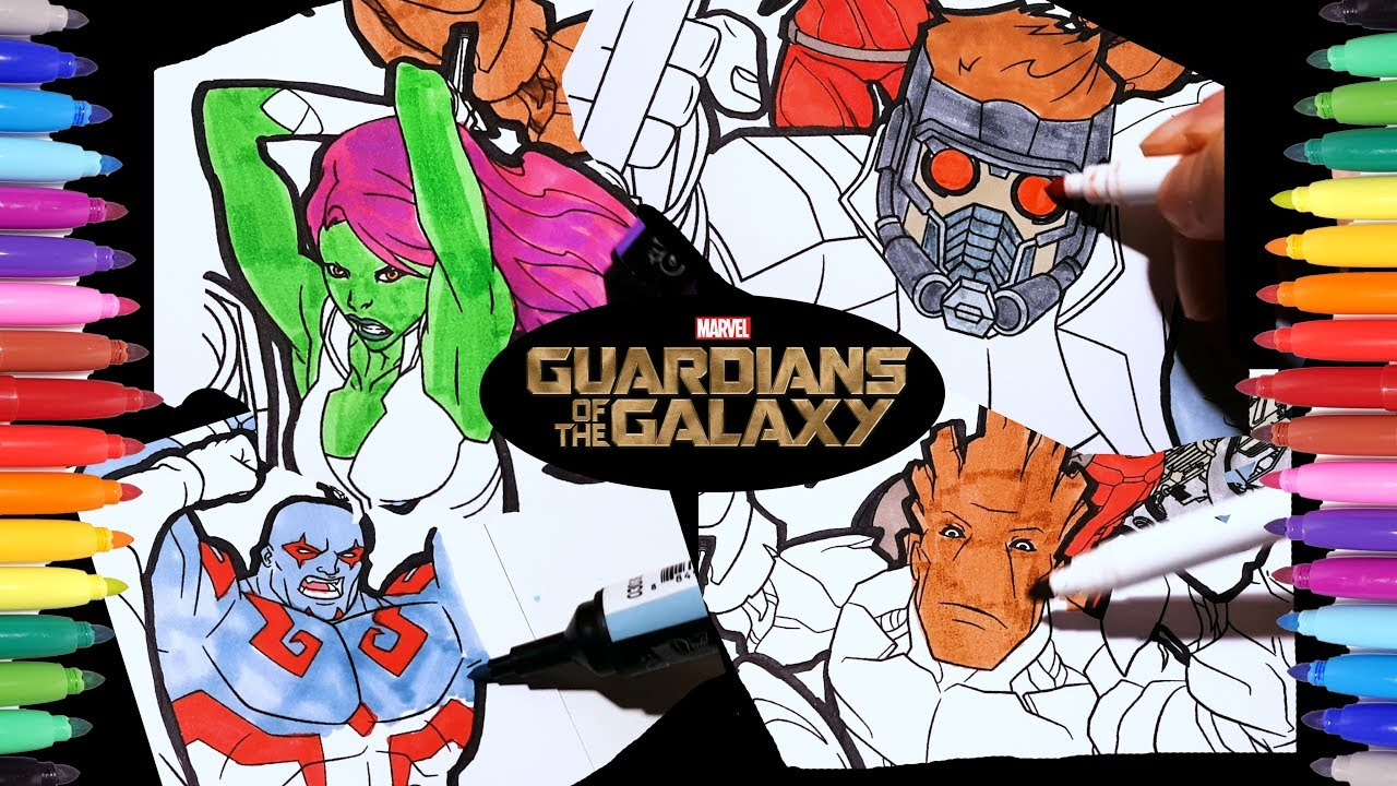 MARVEL Guardians of the Galaxy Coloring Pages | Guardians Drax ...