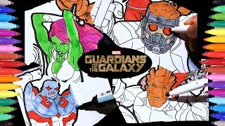 MARVEL Guardians of the Galaxy Coloring Pages | Guardians Drax Gamora Groot Rocket Raccoon Star Lord