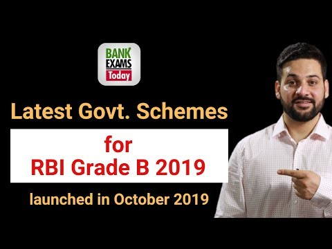 Government Schemes For RBI Grade B - October 2019