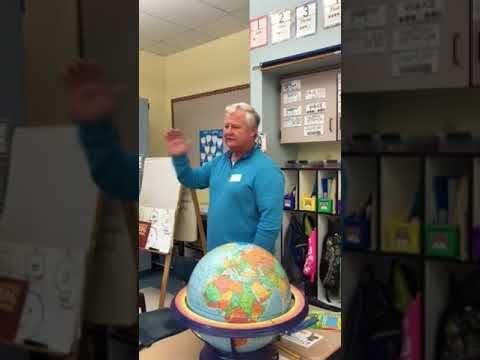 Merrill talks Aruba at Tyler's school