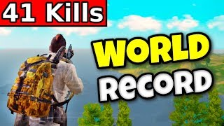 "41 KILLS ""WORLD RECORD"" Solo vs Squads 
