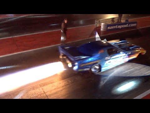 JET CAR - NIGHT RACING AT FLAME & THUNDER 2017