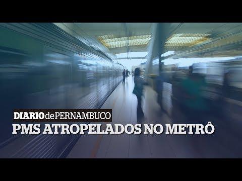 Dois policiais morrem após serem atropelados no Metrô do Recife