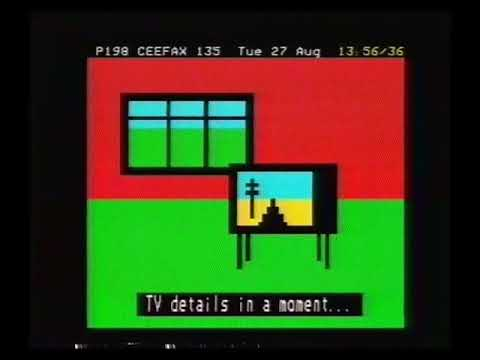 BBC1 Afternoon Closedown & Pages From Ceefax - 1985