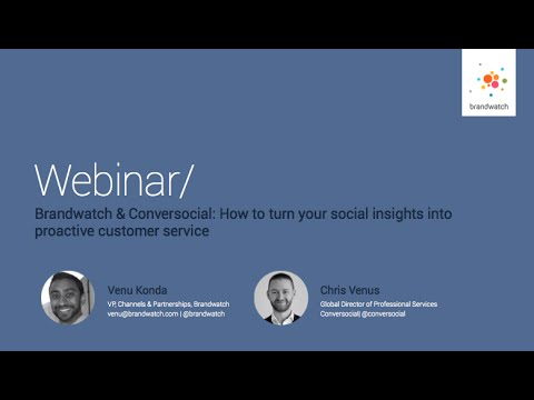 Brandwatch & Conversocial: How to turn your social insights into proactive customer service