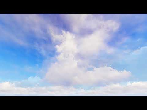 ( CGI 4k Stock Footage ) Heavenly White Clouds With Blue Sky Time Lapse Seamless Loop