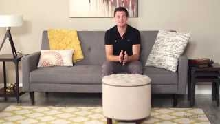 Belham Living Adeline Tufted Ottoman – Oatmeal - Product Review Video
