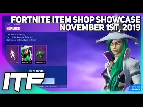 Fortnite Item Shop *NEW* HEMLOCK SET! [November 1st, 2019] (Fortnite Battle Royale)