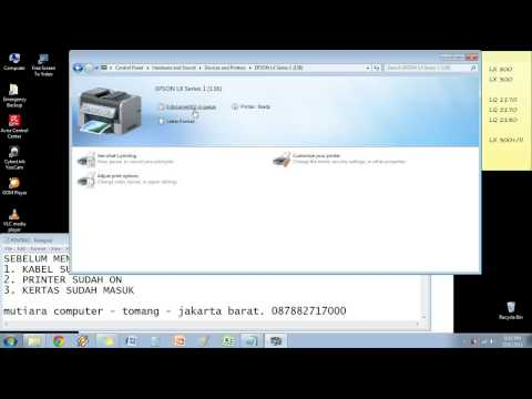 Cara Instalasi Printer Epson Dot Matrix di Windows 7 (Seven/ Tujuh)