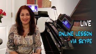 Live: Skype Piano Lesson