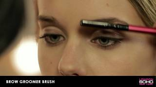 SOHO Silk Makeup Brush Collection - Brow Groomer Brush Thumbnail