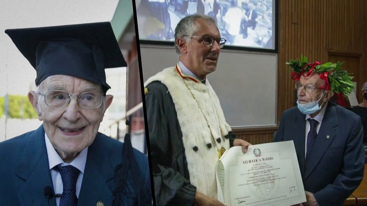 WWII Veteran Earns College Degree at 96