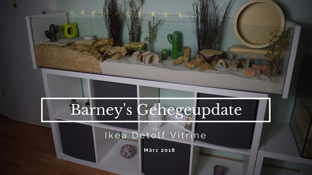 barney 39 s gehegeupdate ikea detolf vitrine nana youtube. Black Bedroom Furniture Sets. Home Design Ideas