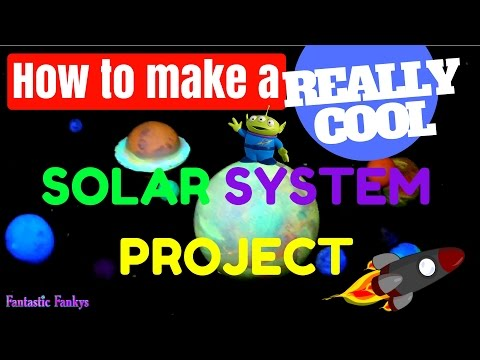 How To Make A REALLY COOL SOLAR SYSTEM PROJECT - Step By Step Tutorial
