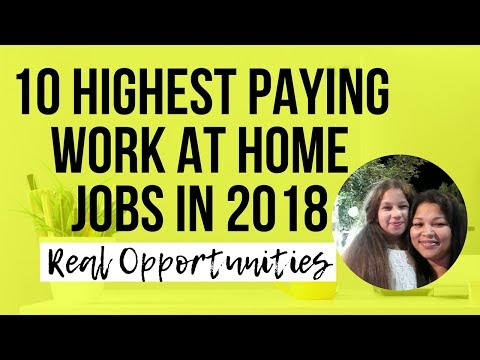 10 Highest Paying Work At Home Jobs