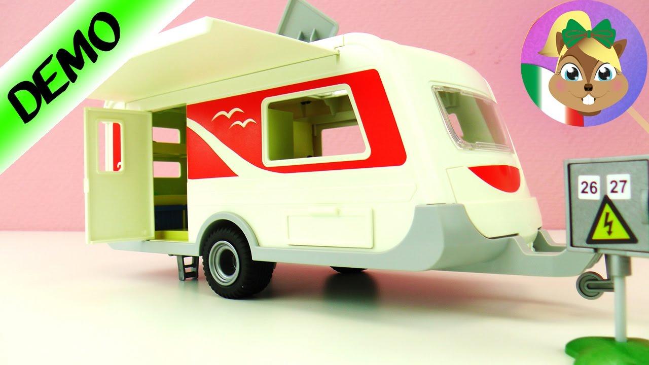 Playmobil ROULOTTE per la famiglia Vogel? VERA roulotte con cucina, letti e angolo chiacchiere ...