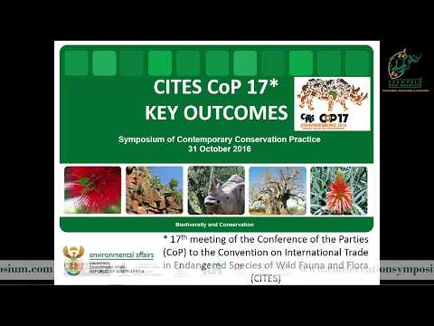 2016D1S1L1 Thea Carroll CITES CoP17- outcomes & implications for SA's biodiversity conservation