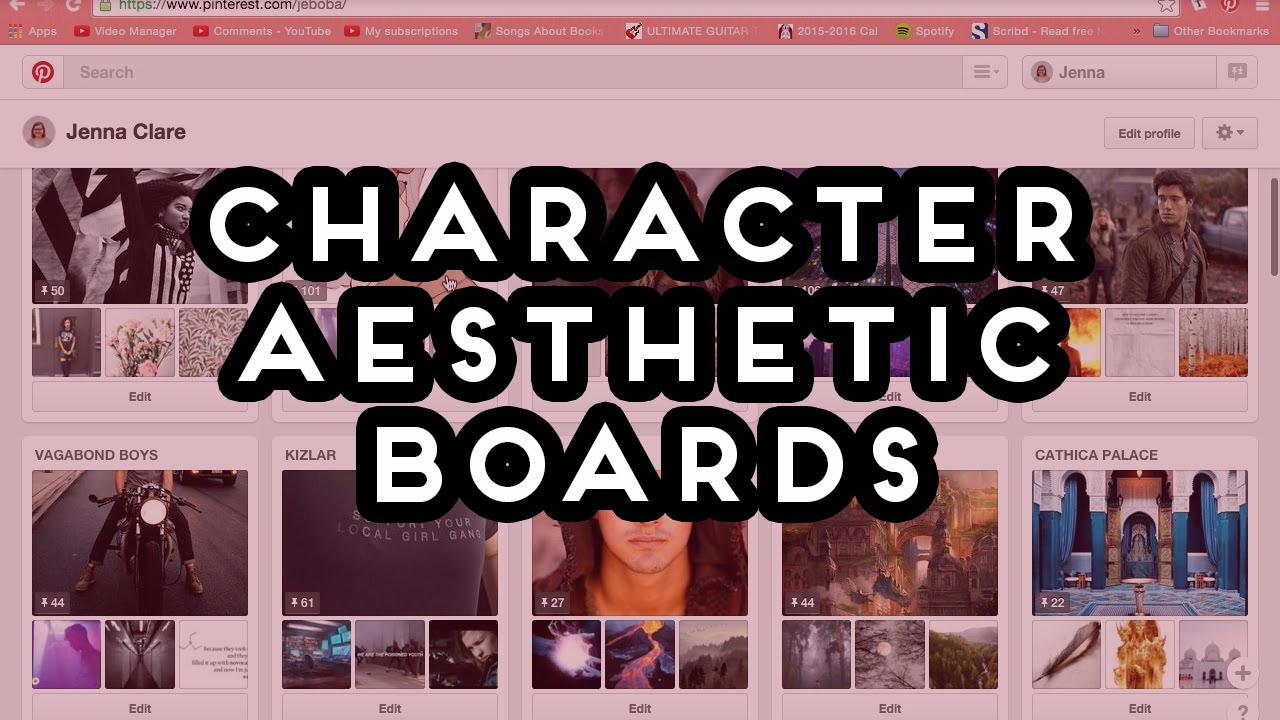how to character aesthetic boards youtube