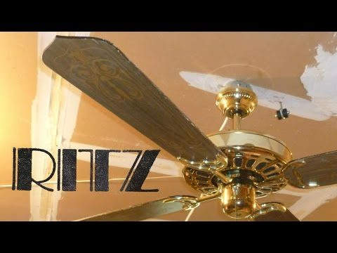 Ritz Tat Ge Vent Ceiling Fan Remake Youtube