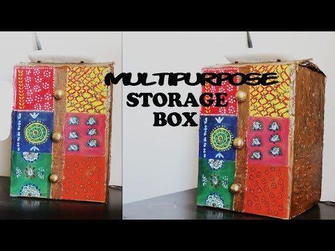 DIY Home decorative Item | Multipurpose storage box | Nikki Srivastava