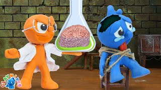 Tiny Swaps His Brain - Funny Moment Stop Motion Animation Cartoons
