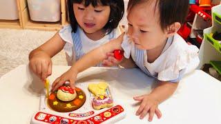 【普段の寸劇姉妹遊び】アンパンマン カレーランチセットのおもちゃで魔法のカレーを作るよ!Anpanman Lunch Toy