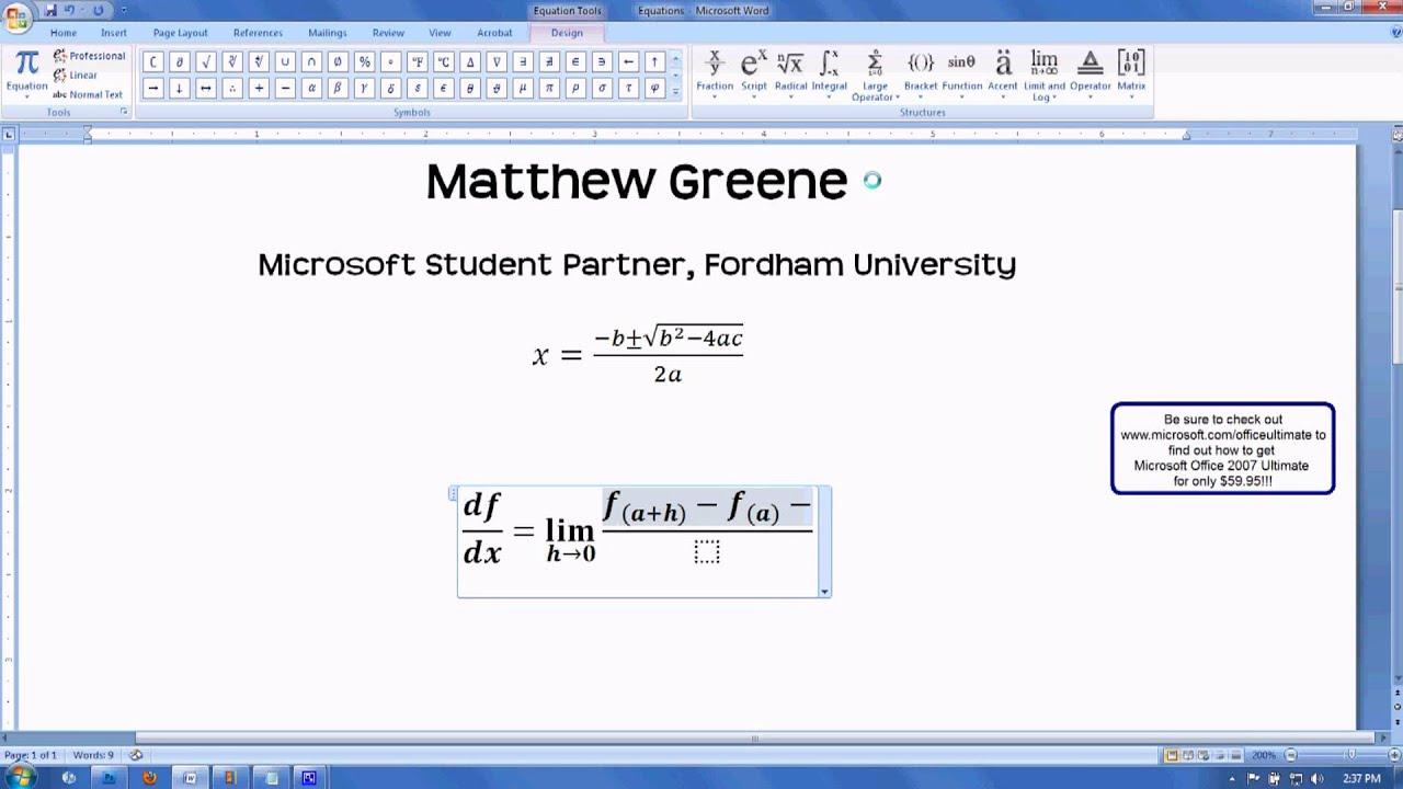 Image result for microsoft equation editor