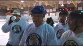 """The Beer League - """"Pyscho Chick Goes Mental at Hockey Game"""""""
