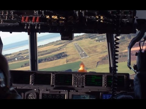 C-130J Hercules Cockpit Landing - Training Flight! [HD]