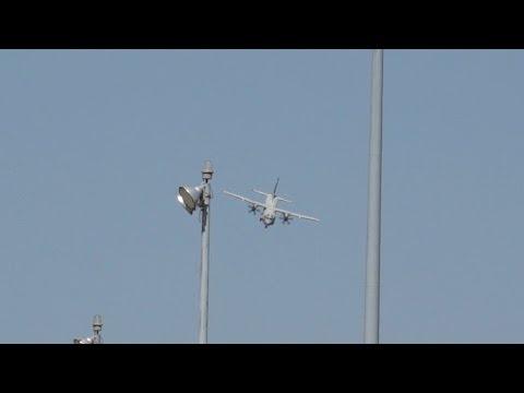 Alenia C-27J Spartan Combat Approach Sarajevo Approach tactical landing at Kecskemét Airshow