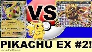 Pokemon Pikachu EX VS Zoroark BREAK! PTCGO Jenna Em
