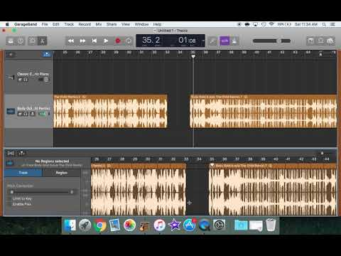 Updated* Garageband for Dance Teachers: How to cut a section out of a song (version 10.2.0)
