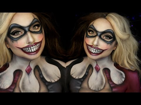 Harley Quinn DC Comics Halloween Makeup Tutorial | Jordan Hanz