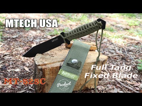 MTECH USA Army Green Fixed Blade Survival Knife (MT-528C)