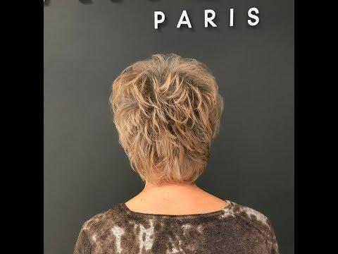Короткая элегантная стрижка для женщины в возрасте. Французская техника исполнения.