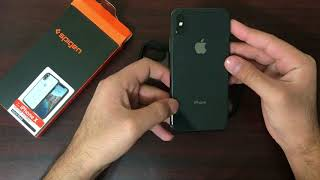 promo code 28fe4 e3f9b Spigen Ultra Hybrid Case Cover for Apple iPhone X- Matte Black ...