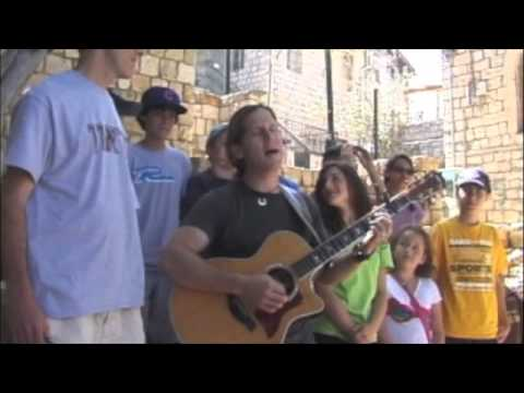 """L'cha Dodi""  in Tzfat, Israel with Rick Recht and Rabbi Micah Greenstein"