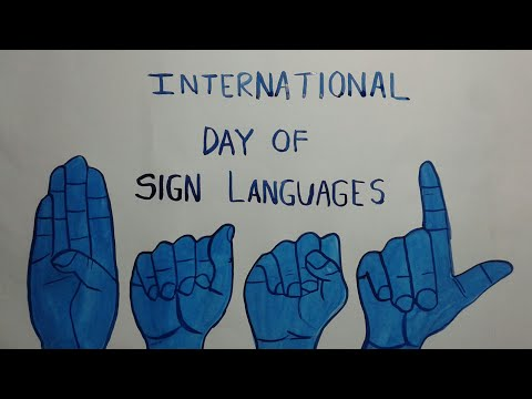 Poster On International Day Of Sign Language | Drawing & Painting Sign Language Day