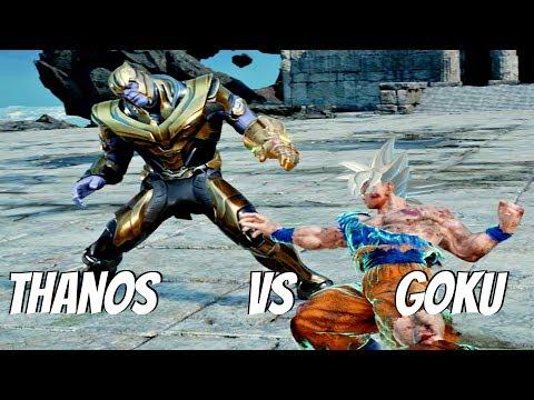 JUMP FORCE - Goku Mastered Ultra Instinct vs Thanos 1vs1 Gameplay