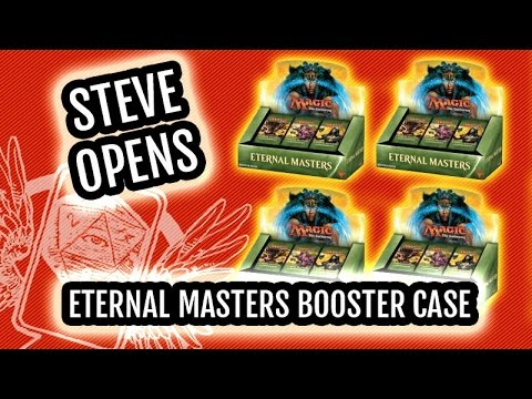 Magic Eternal Masters Booster Box CASE Opening! WIN Eternal Masters Packs!