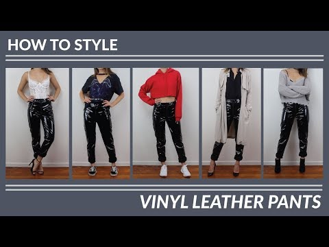 HOW TO STYLE | Vinyl Leather Pants - Styled 5 Ways | JULIA SUH