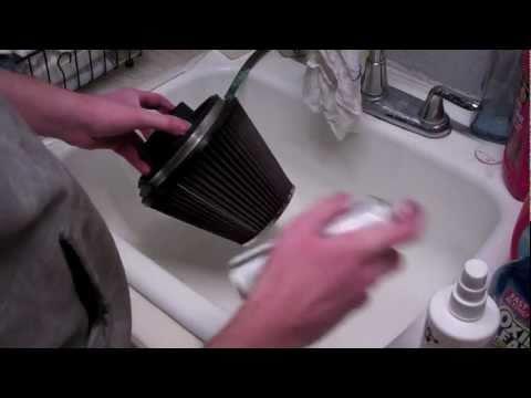 HOW TO:  Clean & Oil K&N Air Filter - 8 Easy Steps