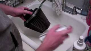 HOW TO:  Clean & Oil K&N Air Filter - 8 Easy Steps