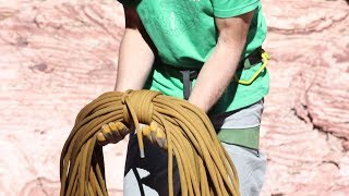 Learn three techniques for coiling climbing rope with instruction f...